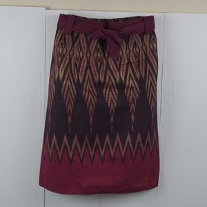 New! 100% Cotton A-Line Knee Skirts. Pattern Print